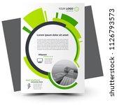 circles flyer brochure design... | Shutterstock .eps vector #1126793573