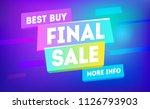 final sale banner design. mega... | Shutterstock .eps vector #1126793903