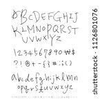 vector fonts   handwritten...   Shutterstock .eps vector #1126801076