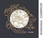 vintage art line template.... | Shutterstock .eps vector #1126804133
