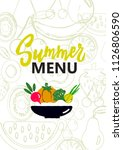 summer menu cover. design... | Shutterstock .eps vector #1126806590