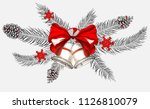 white christmas and new year... | Shutterstock .eps vector #1126810079