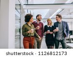 group of diverse coworkers... | Shutterstock . vector #1126812173