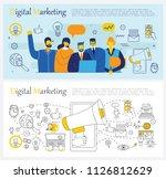 vector illustration backgrounds ... | Shutterstock .eps vector #1126812629