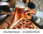 close up shot of glasses of... | Shutterstock . vector #1126814423