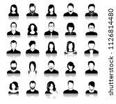set of avatar or user icons.... | Shutterstock .eps vector #1126814480