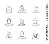 set of avatar or user icons.... | Shutterstock .eps vector #1126814483