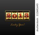 2013   lucky year  vector. | Shutterstock .eps vector #112681643