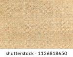 brown sackcloth or burlap...   Shutterstock . vector #1126818650