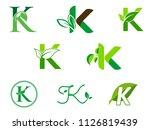 leaf initials k logo set ... | Shutterstock .eps vector #1126819439