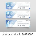 set of infographic banner with... | Shutterstock .eps vector #1126823300
