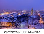 architecture of przemysl at... | Shutterstock . vector #1126823486