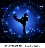karate illustration | Shutterstock . vector #112682693