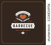 grill restaurant logo vector... | Shutterstock .eps vector #1126826936