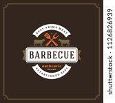 grill restaurant logo vector... | Shutterstock .eps vector #1126826939