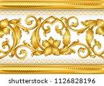 seamless golden ornamental... | Shutterstock .eps vector #1126828196