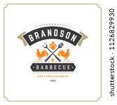 grill restaurant logo vector...   Shutterstock .eps vector #1126829930
