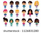 vector cartoon set of different ... | Shutterstock .eps vector #1126831280