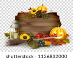 halloween template with... | Shutterstock .eps vector #1126832000
