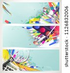 school trendy design headers... | Shutterstock .eps vector #1126832006