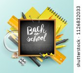 school design template with... | Shutterstock .eps vector #1126832033