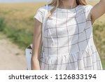 beautiful  young girl looking... | Shutterstock . vector #1126833194