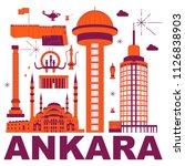 ankara culture travel set ...   Shutterstock .eps vector #1126838903