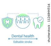 dental health concept icon.... | Shutterstock .eps vector #1126844516