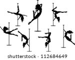 Silhouettes Of Pole Dancers....