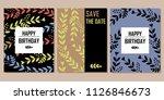 happy birthday cards | Shutterstock .eps vector #1126846673