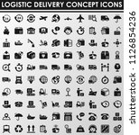logistic concept icons | Shutterstock .eps vector #1126854236