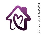 house love logo | Shutterstock .eps vector #1126856939
