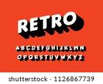 retro typography design vector   Shutterstock .eps vector #1126867739