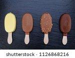 Ice Cream On Stick Covered Wit...