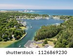 Aerial View Of Round Lake In...