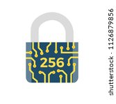 sha 256 concept flat icon.... | Shutterstock . vector #1126879856