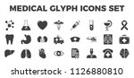 medical icons set. glyph... | Shutterstock . vector #1126880810