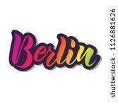 hand sketched berlin text....   Shutterstock .eps vector #1126881626