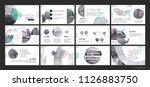 presentation template. green... | Shutterstock .eps vector #1126883750