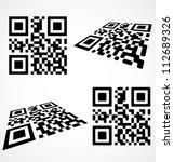 simple qr code icon. vector... | Shutterstock .eps vector #112689326