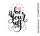lettering be yourself with... | Shutterstock .eps vector #1126895339
