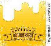 vector oktoberfest hand drawn... | Shutterstock .eps vector #1126904903