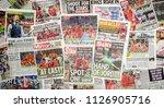 london  england   july 04  2018 ... | Shutterstock . vector #1126905716