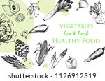 vintage vegetables engravings... | Shutterstock .eps vector #1126912319