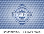 happy hour blue badge with... | Shutterstock .eps vector #1126917536