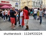 moscow  russia   june 23  2018  ... | Shutterstock . vector #1126923224