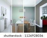 3d illustration of splitted... | Shutterstock . vector #1126928036