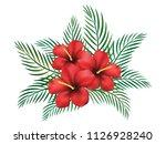 hibiscus flower vector design | Shutterstock .eps vector #1126928240