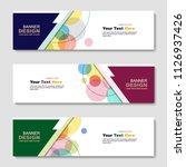 banner  abstract web template.... | Shutterstock .eps vector #1126937426