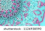 decorative design element.... | Shutterstock . vector #1126938590